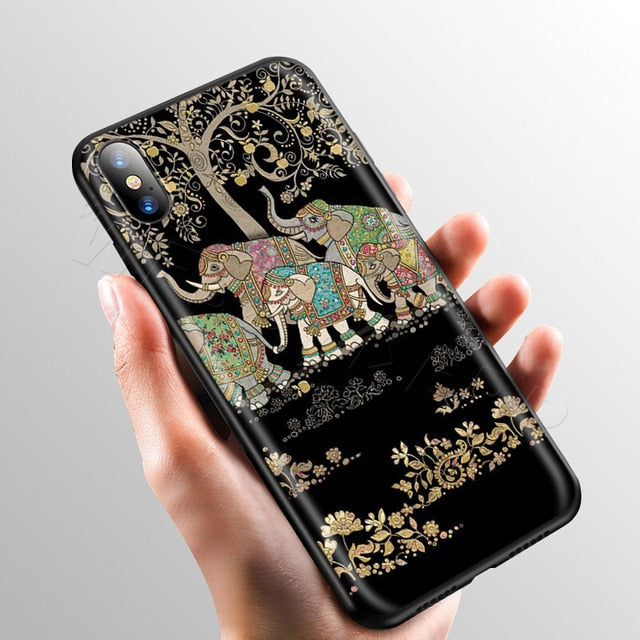 Herd Under a Tree Phone Case - iPhone