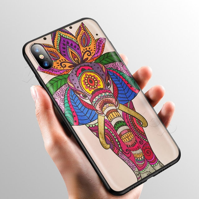 Colorful Mandala Elephant Phone Case - iPhone