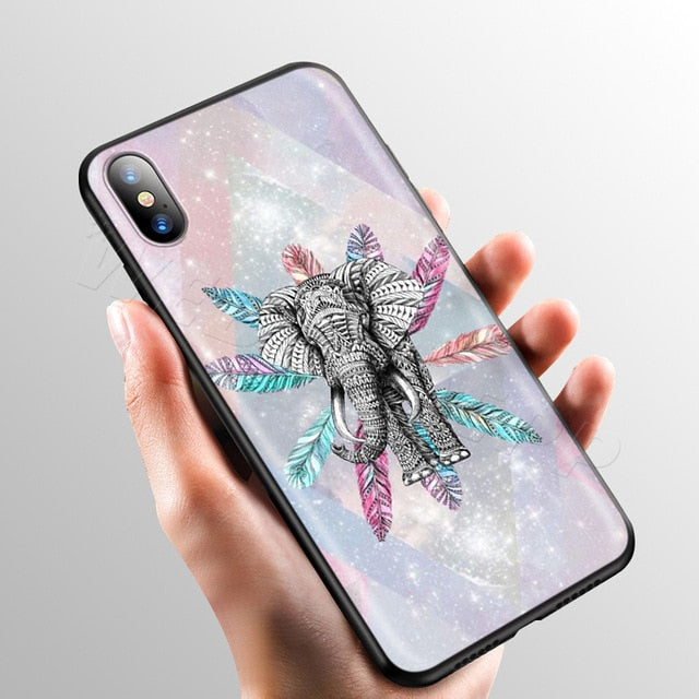 Elephant in Feathers Phone Case - iPhone