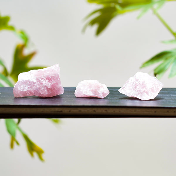 Quartz rose, pierres brutes