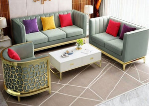 Velvet Living Room Sofa Set 3pcs