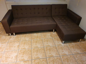 Luxe BROWN Living Room Sofa & Futon