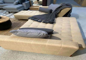 Luxe BEIGE Living Room Sofa & Futon