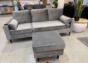 Susan Velvet Living Room L-Shape Corner Sofa