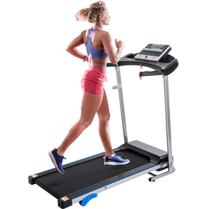 Electric Treadmill, Smart Digital Folding Treadmill for Home, Easy Assembly Fitness Exercise Equipment, Large Running Surface, 12 Preset Program Motorized Running Machine for Running & Walking, I7182