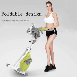 Exercise Bike, Ultra-Quiet Exercise Bike Foldable and Adjustable Resistance Home Bike Dynamic Bike Suitable for Indoor Exercise