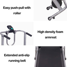 Load image into Gallery viewer, US Fast Shipment Walking Treadmill, 4 in 1 Folding Shock Running Supine T-wisting Draw Rope 4-in-1 Mechanical Treadmills Home Gym Workout Fitness Running Machine