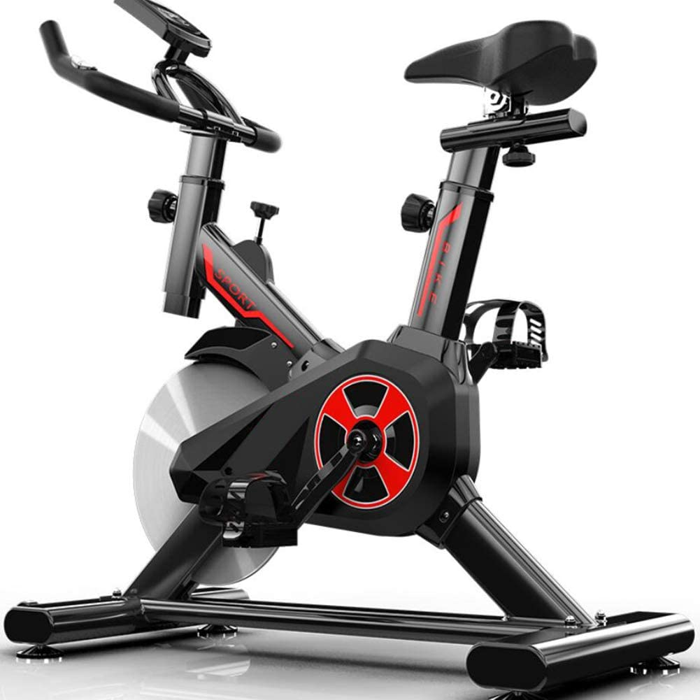 Indoor Exercise Bike,Chrome Flywheel Cycling,Fitness Bike Comfortable Seat for Training Cardio Black