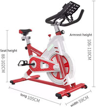 Load image into Gallery viewer, Indoor Exercise Bike Spinning Bike Ultra Quiet Home Abdominal Muscle Trainer with Low Noise Belt Transmission System Sports Fitness Equipment Aerobic Trainer