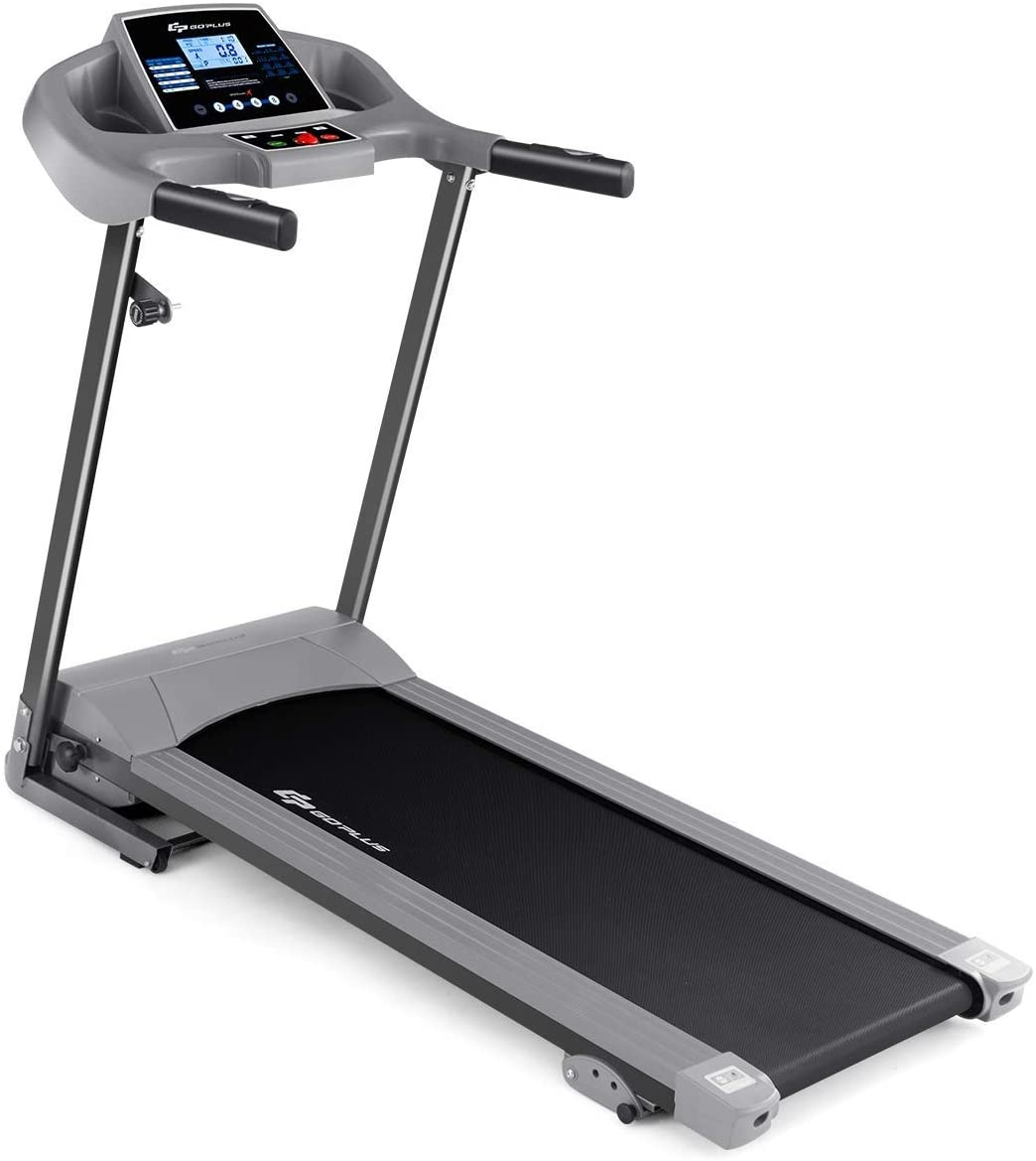 Quarantine Workout Jogging Treadmill, Folding Running Machine, Electric Treadmill Fitness Motorized 2.25HP 12 Modes Adjustable, 265 Lbs Max Load, LCD Display Safety Key, Home Walking Platform