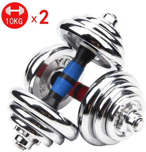 Galvanized Dumbbell Dumbbell Set with Adjustable Weights - Weight Set for Weightlifting and Body Building Metal Ergonomic Handles Prevent Rolling and Injury for Home Gym Exercise Men Women
