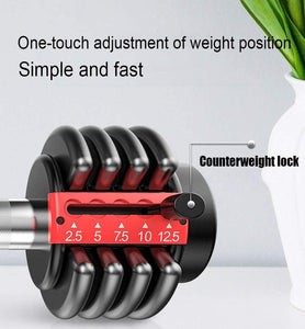 Removable Dumbbell Set, Multi-Level Weight Adjustment, Effective Fitness Strength Training, for Body Workout Home Gym Lose Weight, 12KG/26.5Lbs (Pair)