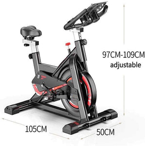 Bicycle Spinning Bike, Ultra-Quiet Exercise Bike, Abdominal Muscle Trainer, Speed Skating with Low Noise Belt Transmission System