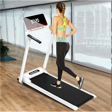 Load image into Gallery viewer, Electric Folding Treadmill | Motorized Portable Pad Treadmills Walking Jogging Running Exercise Fitness Machine w/Incline LCD Display and Bluetooth Speaker (from US, Silver)