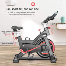 Load image into Gallery viewer, Bicycle Spinning Bike, Ultra-Quiet Exercise Bike, Abdominal Muscle Trainer, Speed Skating with Low Noise Belt Transmission System