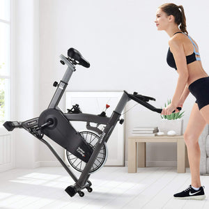Indoor Cycling Bike-Belt Drive Indoor Magnetic Exercise Bike,Indoor Stationary Bike for Home Cardio Gym Workout