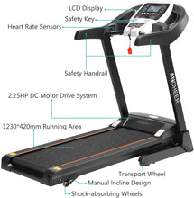 Load image into Gallery viewer, APP Control Electric Folding Treadmill S8100 (APP Control_Black)