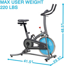 Load image into Gallery viewer, Indoor Cycle Bike, Quiet Belt Drive Cycling Trainer Exercise Bike; 22 LB Flywheel, LCD Montior - IC007