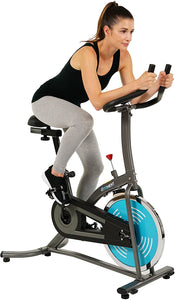 Indoor Cycle Bike, Quiet Belt Drive Cycling Trainer Exercise Bike; 22 LB Flywheel, LCD Montior - IC007