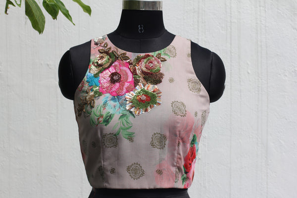 Floral Georgette Crop Top