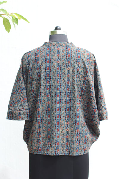 Ajrakh Batwing Sleeve Top