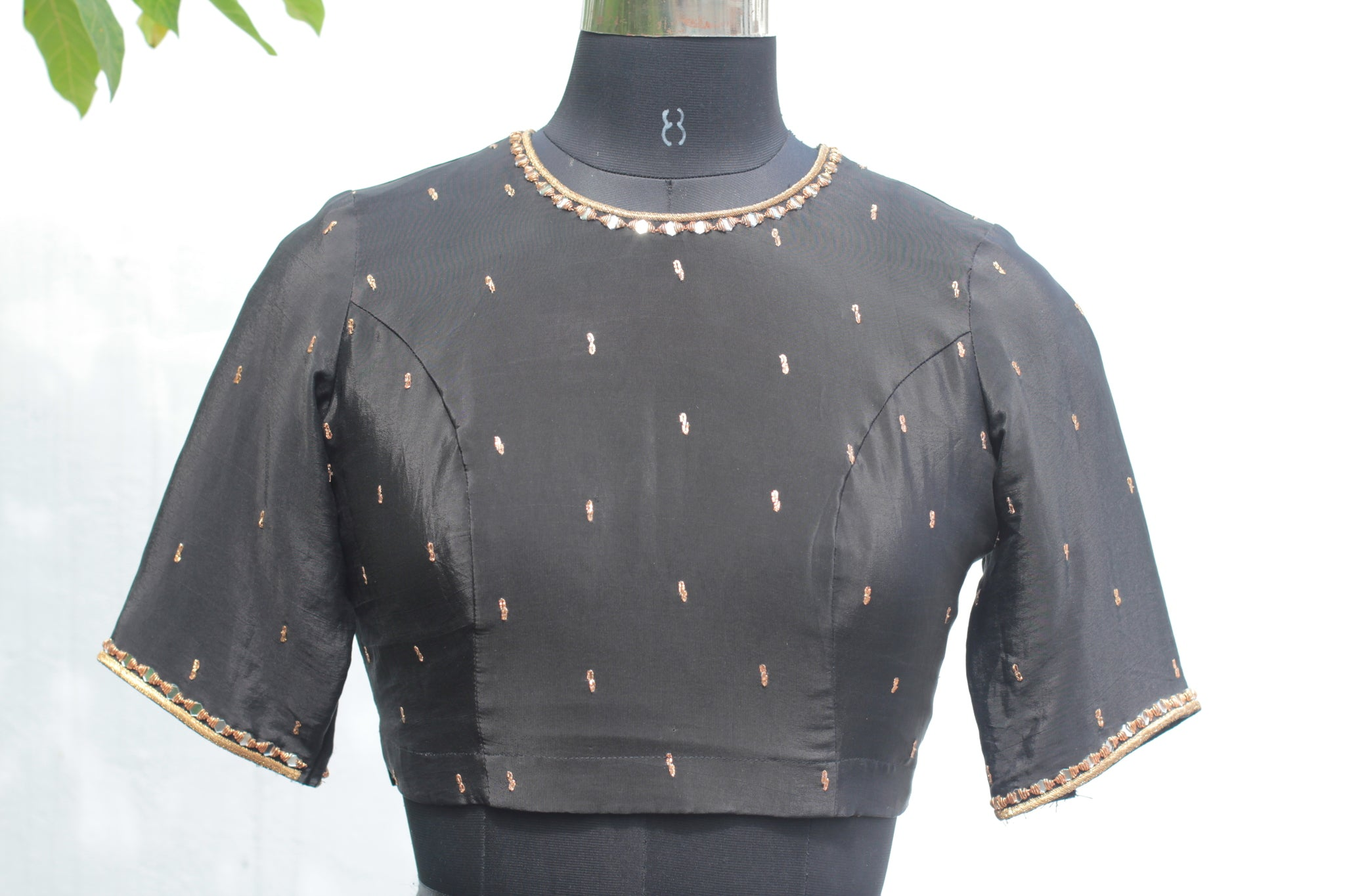 Pitta Embellished Black Crop Top