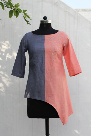 Double Colour Asymmetrical Top