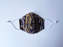 Load image into Gallery viewer, East African Tanzania Batiki Fabric Face Mask 21/08