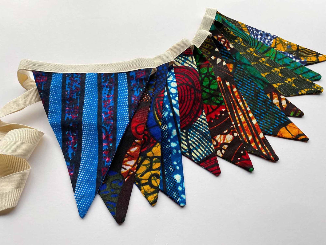 East African Wax Print Bunting Flags