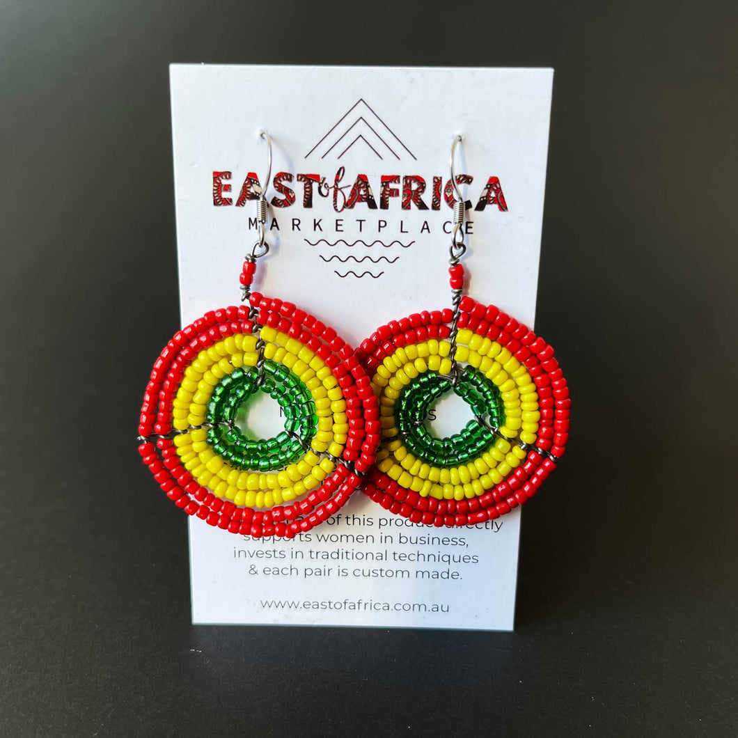 Maasai Beaded Earrings 21/10