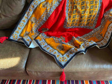 Load image into Gallery viewer, East African Swahili Urafiki Kanga Bamboo Blanket 2020/10