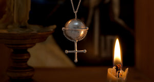 Inverted Cross silver pendant inspired by Breugal