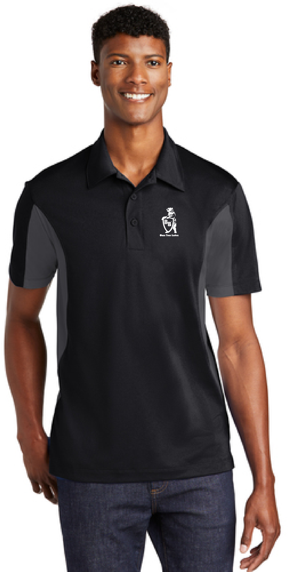 Sport Polo Shirt, Black/Iron Grey - Micropique Sport-Wicking Material
