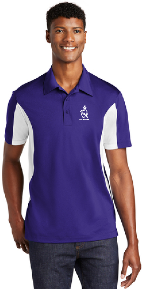 Sport Polo Shirt, Purple/White - Micropique Sport-Wicking Material