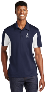 Sport Polo Shirt, Navy/White - Micropique Sport-Wicking Material