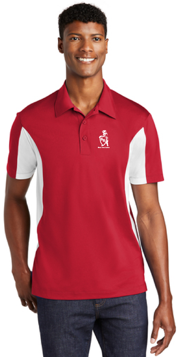 Sport Polo Shirt, True Red / White - Micropique Sport-Wicking Material