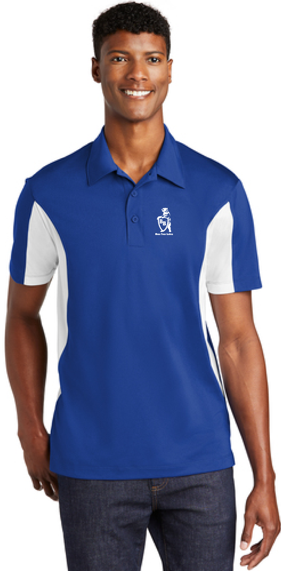 Sport Polo Shirt, True Royal Blue / White - Micropique Sport-Wicking Material