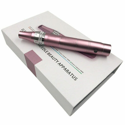 Rechargeable Derma Pen with 2pcs 12pin Needles - glamourfxcanada