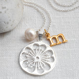 Silver Primrose Necklace
