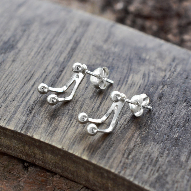Sterling Silver Two Way Stud Earrings