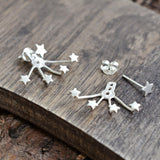Sterling Silver Two Way Star Stud Earrings