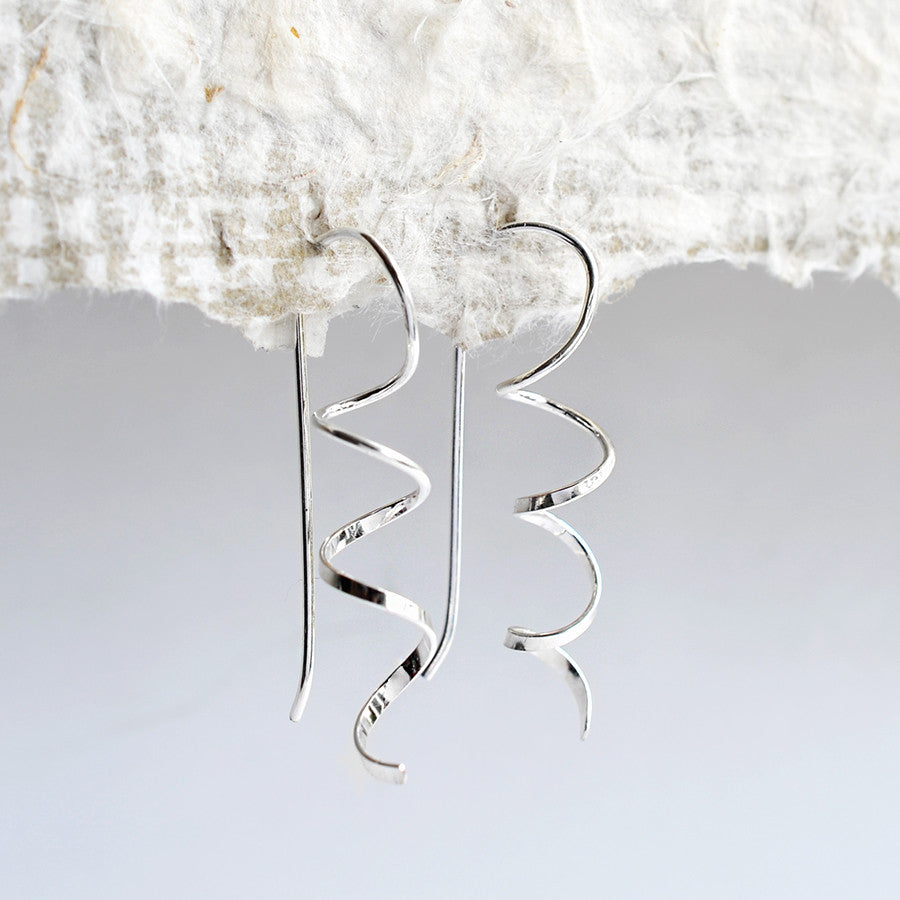 Sterling Silver Simple Coil Earrings