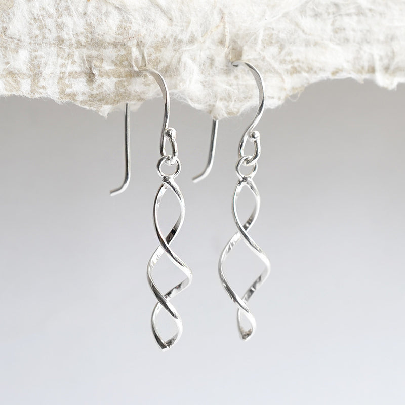 Sterling Silver Simple Twist Earrings