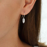 Sterling Silver Liquid Bean Earrings