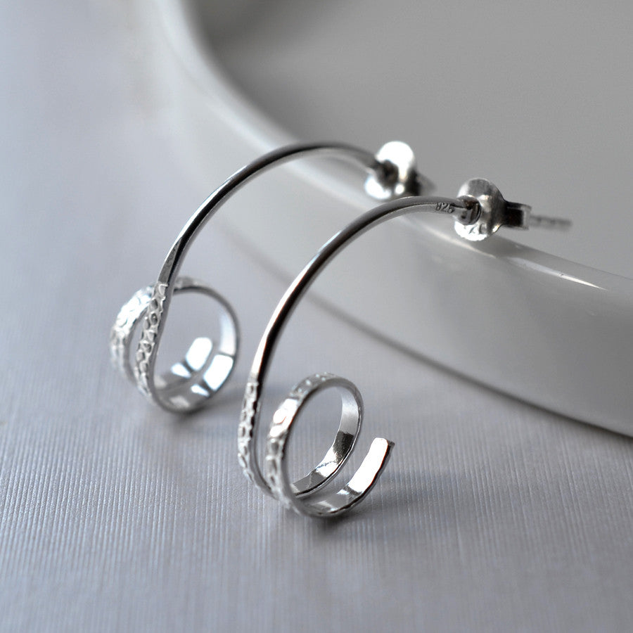Sterling Silver Urban Twirl Earrings