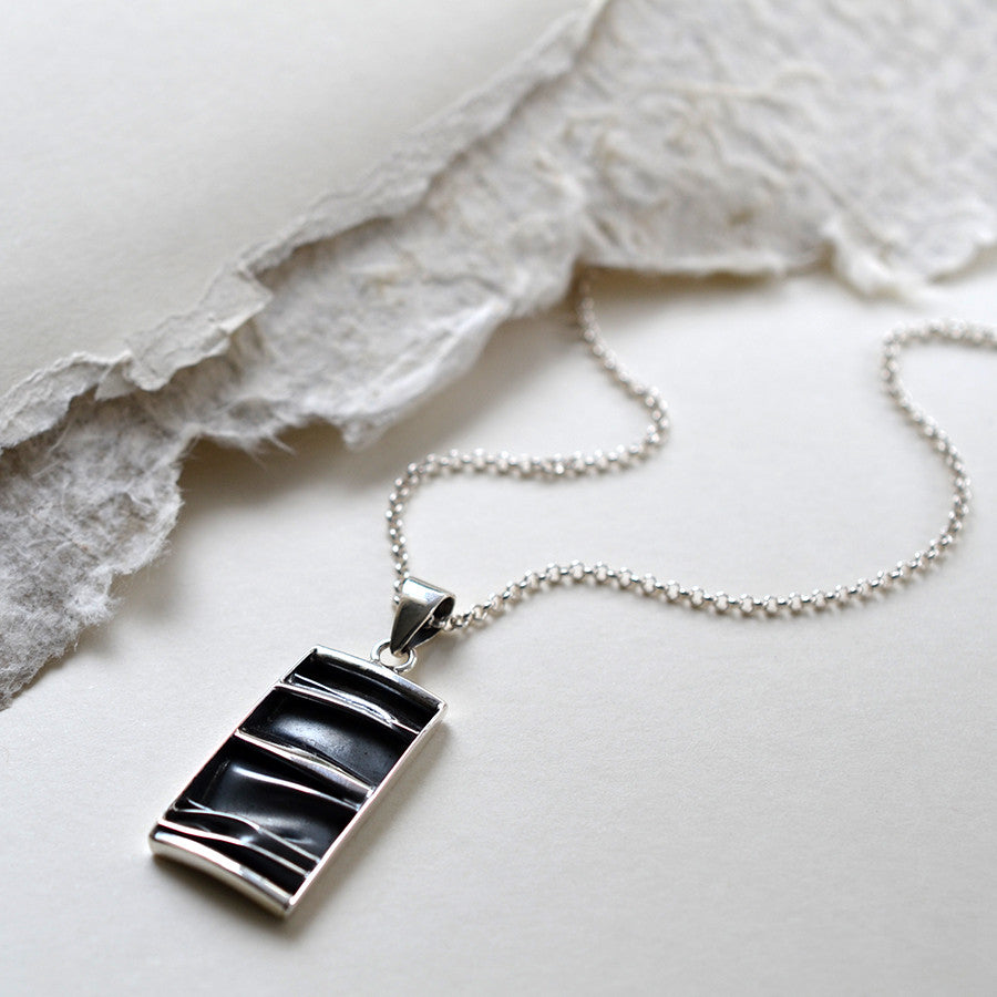 Sterling Silver Crumpled Silk Necklace