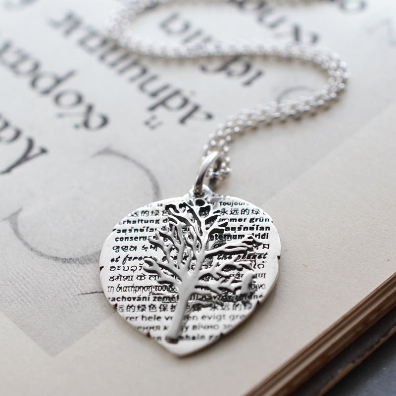 Sterling Silver Tree Of Wisdom Necklace