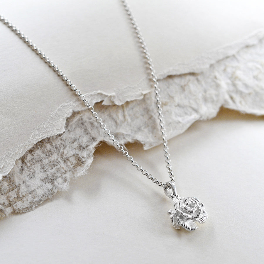 Sterling Silver Carnation Necklace