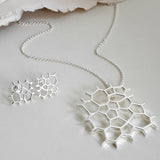 Sterling Silver Honeycomb Necklace