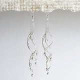 Sterling Silver Dancing Waves Earrings
